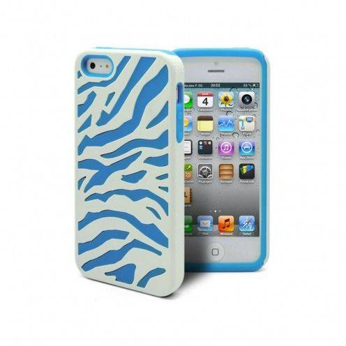 iPhone 5 ZEBRA Dual layer case Blue