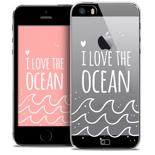 Extra Slim Crystal iPhone SE/5/5s Case Summer I Love Ocean