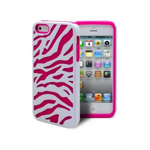 iPhone 5 ZEBRA Dual layer case Pink