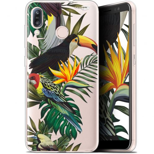 "Extra Slim Gel Asus Zenfone Max (M1) ZB555KL (5.5"") Case Design Toucan Tropical"