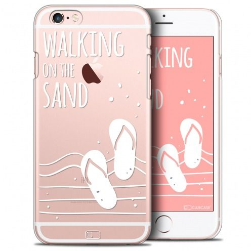 Extra Slim Crystal iPhone 6/6s Plus Case Summer Walking on the Sand