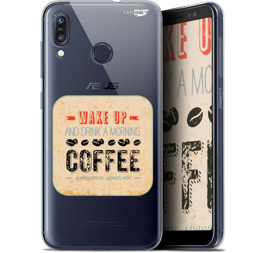 """Extra Slim Gel Asus Zenfone Max (M1) ZB555KL (5.5"""") Case Design Wake Up With Coffee"""