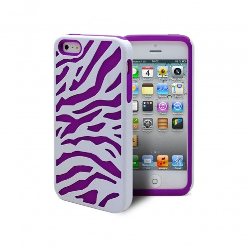 iPhone 5 ZEBRA Dual layer case Purple