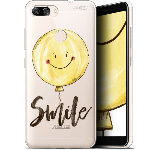 "Extra Slim Gel Asus Zenfone Max Plus (M1) ZB570TL (5.7"") Case Design Smile Baloon"