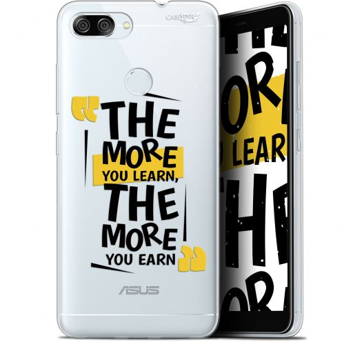 """Extra Slim Gel Asus Zenfone Max Plus (M1) ZB570TL (5.7"""") Case Design The More You Learn"""
