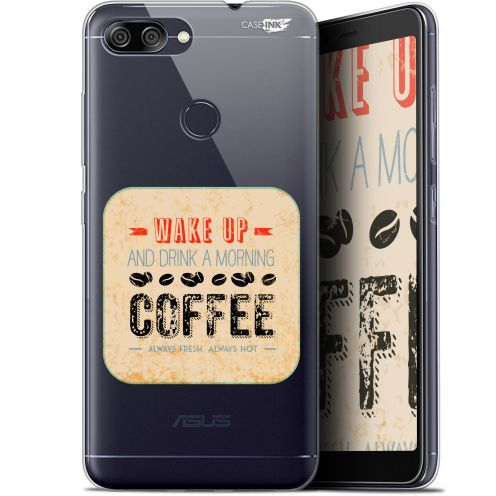 """Extra Slim Gel Asus Zenfone Max Plus (M1) ZB570TL (5.7"""") Case Design Wake Up With Coffee"""