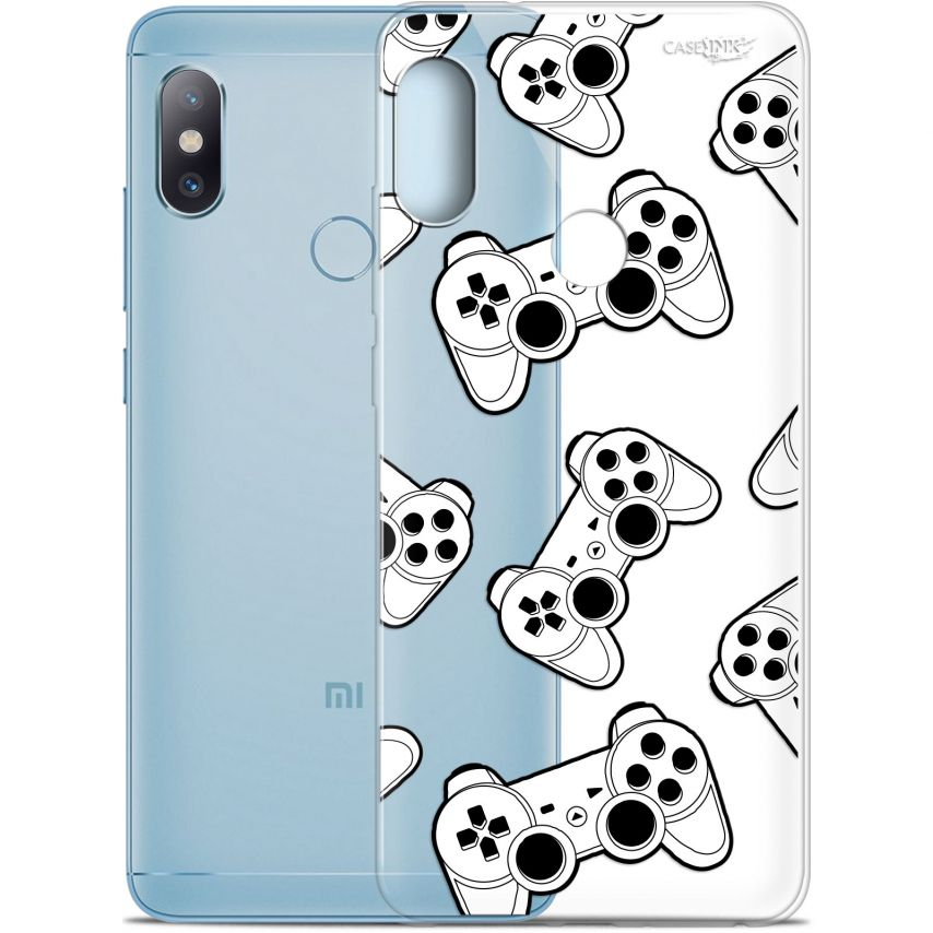"Extra Slim Gel Xiaomi Redmi Note 5 (5.99"") Case Design Game Play Joysticks"