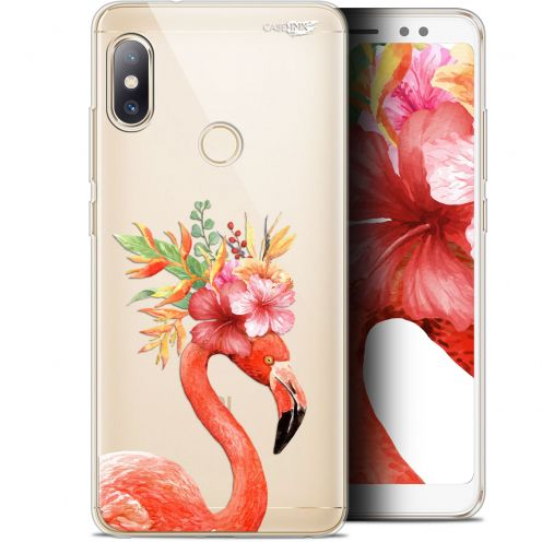 "Extra Slim Gel Xiaomi Redmi Note 5 (5.99"") Case Design Flamant Rose Fleuri"