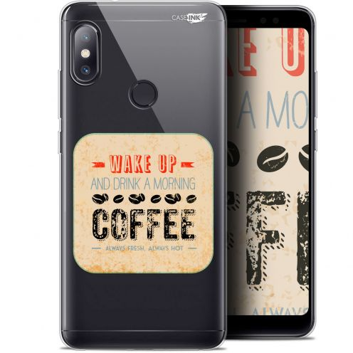 "Extra Slim Gel Xiaomi Redmi Note 5 (5.99"") Case Design Wake Up With Coffee"