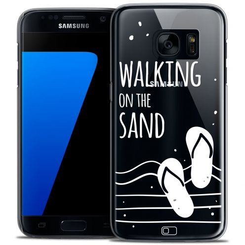 Extra Slim Crystal Galaxy S7 Case Summer Walking on the Sand
