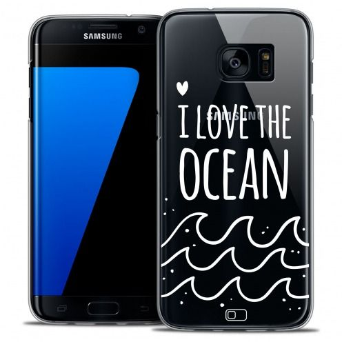 Extra Slim Crystal Galaxy S7 Edge Case Summer I Love Ocean