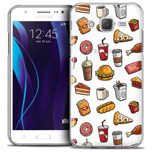 Extra Slim Crystal Galaxy J5 (J500) Case Foodie Fast Food