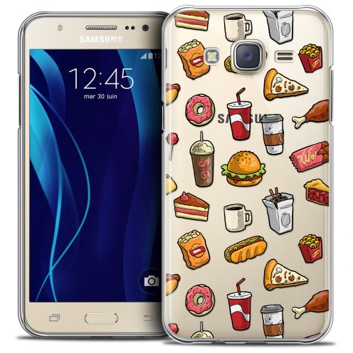 Extra Slim Crystal Galaxy J7 (J700) Case Foodie Fast Food