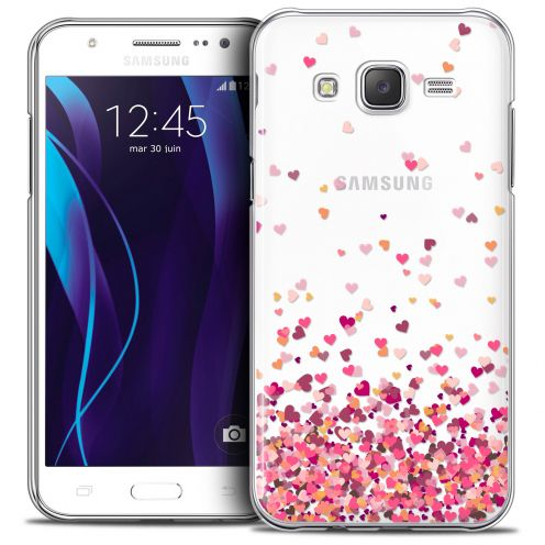Extra Slim Crystal Galaxy J7 (J700) Case Sweetie Heart Flakes