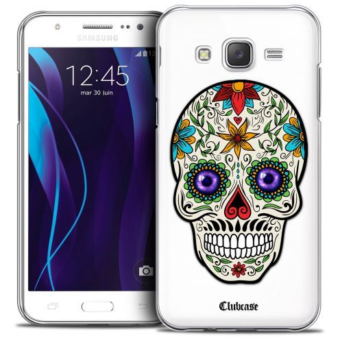 Extra Slim Crystal Galaxy J5 (J500) Case Skull Maria's Flower