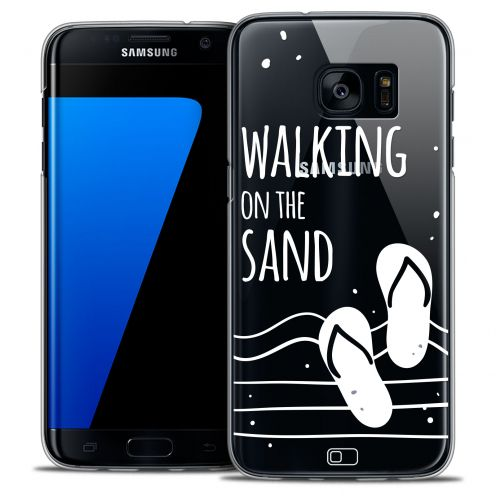 Extra Slim Crystal Galaxy S7 Edge Case Summer Walking on the Sand