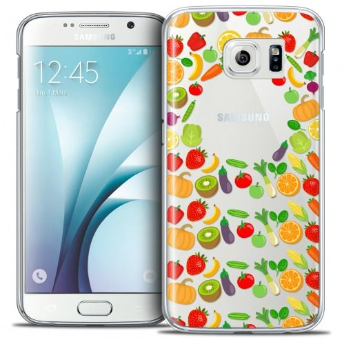 Extra Slim Crystal Galaxy S6 Case Foodie Healthy