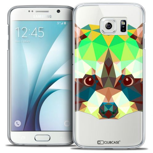 Extra Slim Crystal Galaxy S6 Case Polygon Animals Racoon