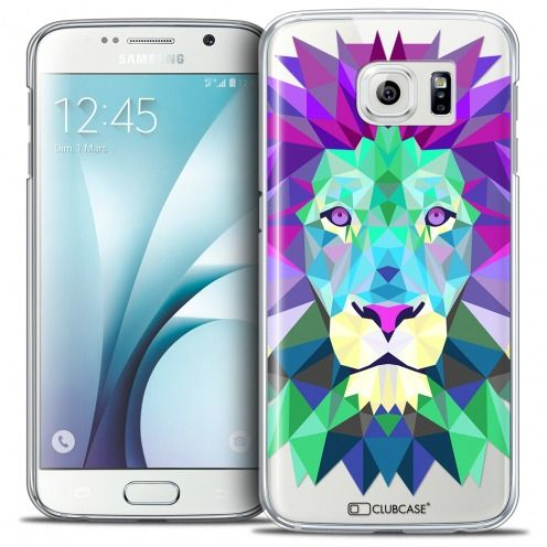 Extra Slim Crystal Galaxy S6 Case Polygon Animals Lion