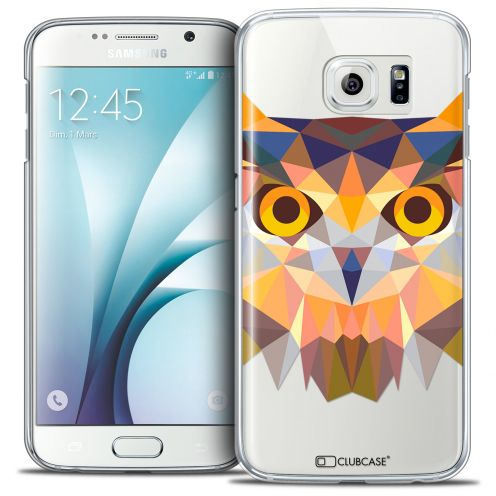 Extra Slim Crystal Galaxy S6 Case Polygon Animals Owl