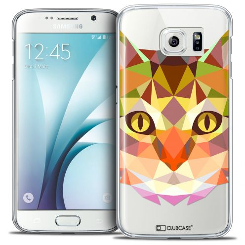 Extra Slim Crystal Galaxy S6 Case Polygon Animals Cat