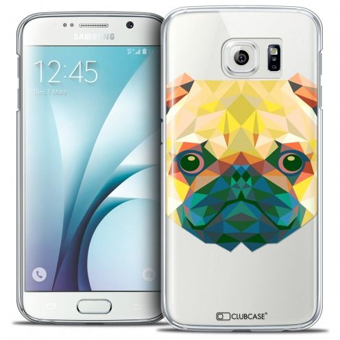 Extra Slim Crystal Galaxy S6 Case Polygon Animals Dog