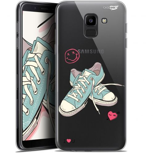 "Extra Slim Gel Samsung Galaxy J6 2018 J600 (5.6"") Case Design Mes Sneakers d'Amour"