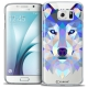 Extra Slim Crystal Galaxy S6 Case Polygon Animals Wolf