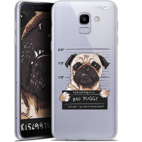 "Extra Slim Gel Samsung Galaxy J6 2018 J600 (5.6"") Case Design Beware The Puggy Dog"