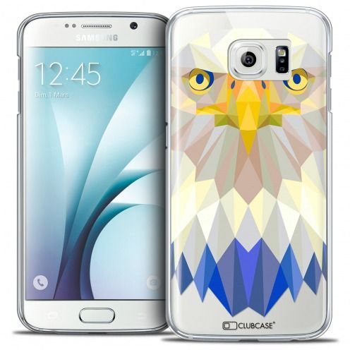 Extra Slim Crystal Galaxy S6 Case Polygon Animals Eagle