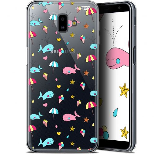 "Extra Slim Gel Samsung Galaxy J6 Plus J6+ (6.4"") Case Design Baleine à la Plage"