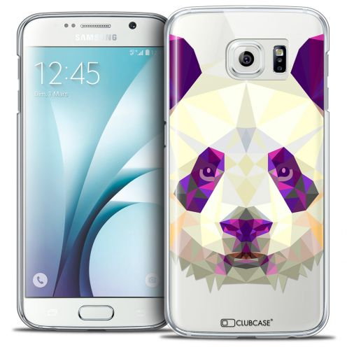 Extra Slim Crystal Galaxy S6 Case Polygon Animals Panda