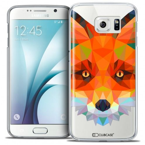Extra Slim Crystal Galaxy S6 Case Polygon Animals Fox