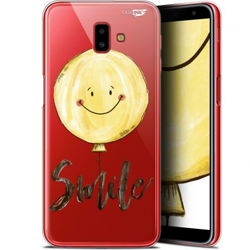 "Extra Slim Gel Samsung Galaxy J6 Plus J6+ (6.4"") Case Design Smile Baloon"