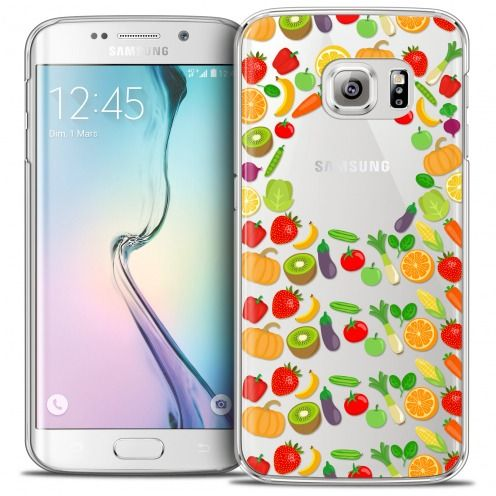 Extra Slim Crystal Galaxy S6 Edge Case Foodie Healthy