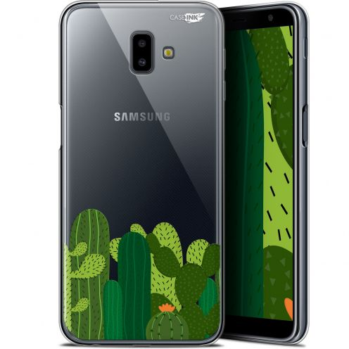 "Extra Slim Gel Samsung Galaxy J6 Plus J6+ (6.4"") Case Design Cactus"