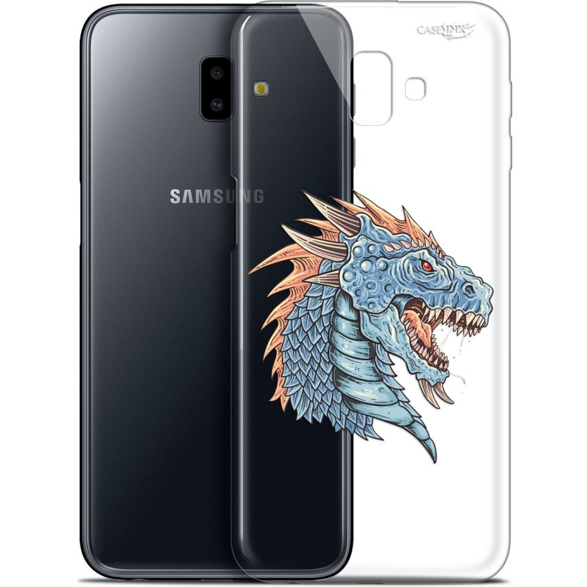 "Extra Slim Gel Samsung Galaxy J6 Plus J6+ (6.4"") Case Design Dragon Draw"