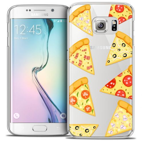 Extra Slim Crystal Galaxy S6 Edge Case Foodie Pizza