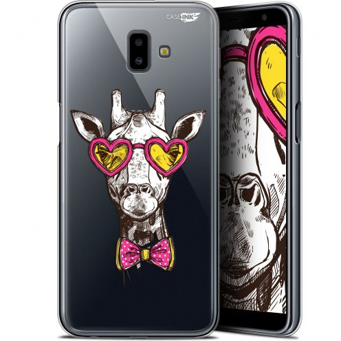 "Extra Slim Gel Samsung Galaxy J6 Plus J6+ (6.4"") Case Design Hipster Giraffe"