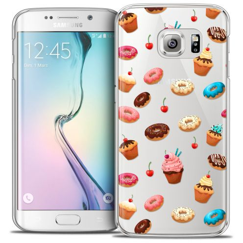 Extra Slim Crystal Galaxy S6 Edge Case Foodie Donuts