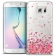 Extra Slim Crystal Galaxy S6 Edge Case Sweetie Heart Flakes