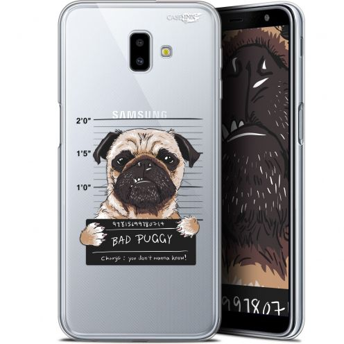 "Extra Slim Gel Samsung Galaxy J6 Plus J6+ (6.4"") Case Design Beware The Puggy Dog"