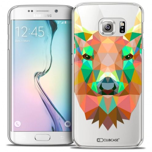 Extra Slim Crystal Galaxy S6 Edge Case Polygon Animals Deer