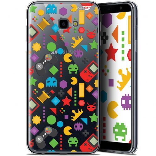 "Extra Slim Gel Samsung Galaxy J4 Plus J4+ (6"") Case Design PacMan"