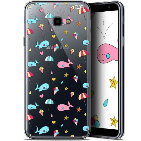"Extra Slim Gel Samsung Galaxy J4 Plus J4+ (6"") Case Design Baleine à la Plage"