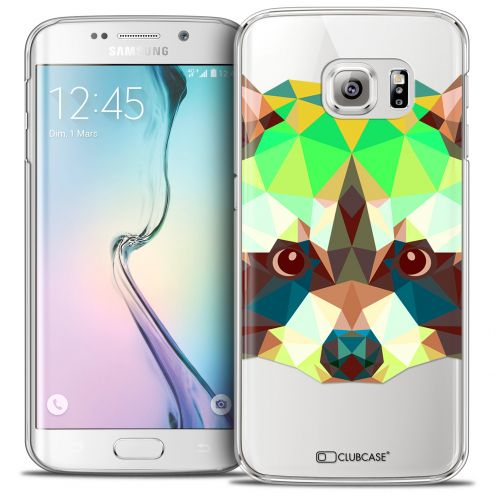 Extra Slim Crystal Galaxy S6 Edge Case Polygon Animals Racoon