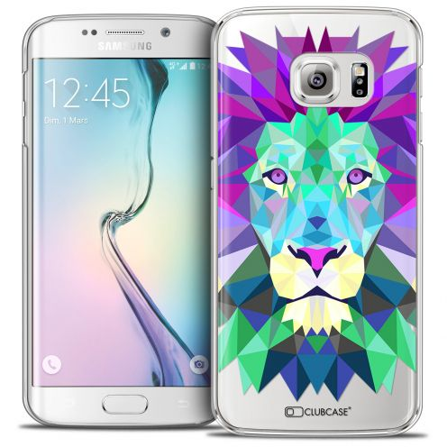 Extra Slim Crystal Galaxy S6 Edge Case Polygon Animals Lion