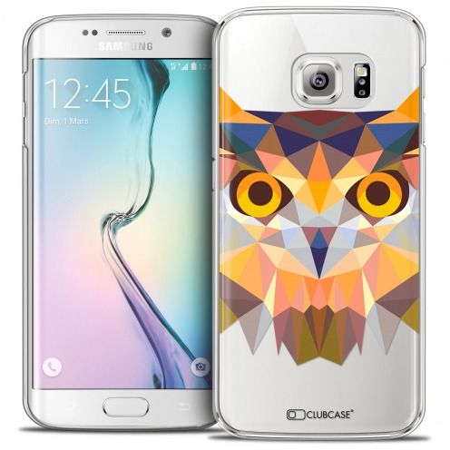 Extra Slim Crystal Galaxy S6 Edge Case Polygon Animals Owl