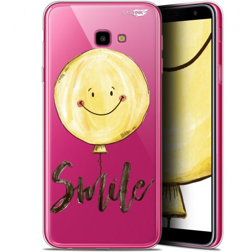 "Extra Slim Gel Samsung Galaxy J4 Plus J4+ (6"") Case Design Smile Baloon"