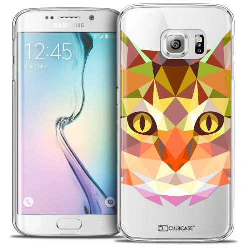 Extra Slim Crystal Galaxy S6 Edge Case Polygon Animals Cat